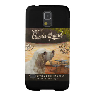 Cafe Clumber Spaniel Galaxy S5 Cover