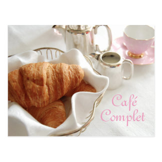 Café Complet, Continental Breakfast Postcard
