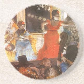 Cafe Concert at Les Ambassadeurs by Edgar Degas Beverage Coasters