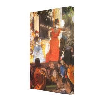 Cafe Concert at Les Ambassadeurs by Edgar Degas Canvas Prints