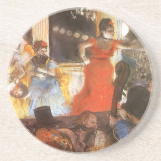 Cafe Concert at Les Ambassadeurs by Edgar Degas Coaster