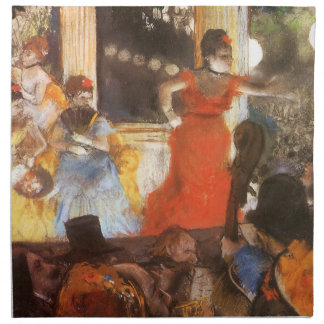 Cafe Concert at Les Ambassadeurs by Edgar Degas Napkin