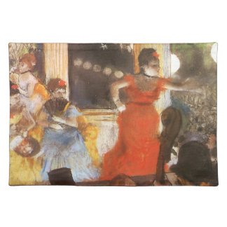 Cafe Concert at Les Ambassadeurs by Edgar Degas Placemat
