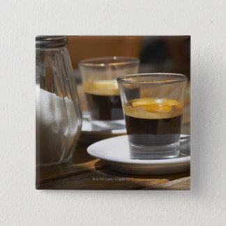 Cafe culture 15 cm square badge