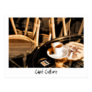 Café Culture Postcard