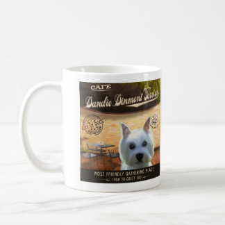 Café Dandie Dinmont Terrier Basic White Mug