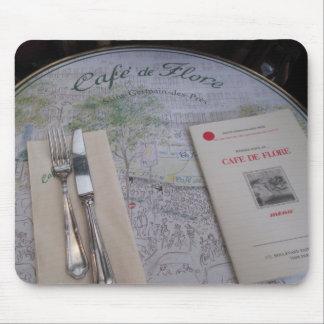 Cafe de Flore, Paris, France - Place Setting, Menu Mouse Pad