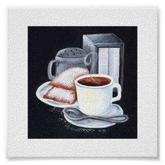 Cafe du Monde on Black Poster