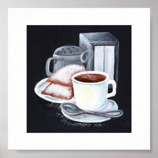 Cafe du Monde on Black Print