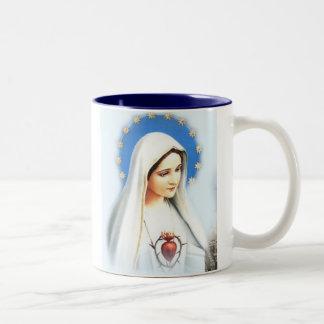 Café Fatima Mug, large Two-Tone Mug
