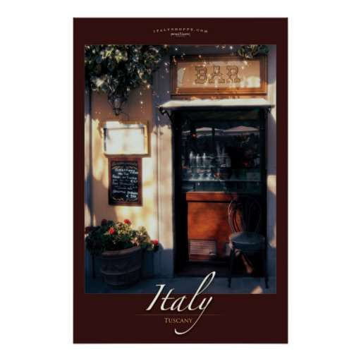 Cafe Fiesole Poster