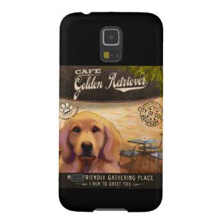 Cafe Golden Retriever Case For Galaxy S5