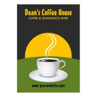 Cafe Green and Grey Coffee Shop Business Cards Business Cards