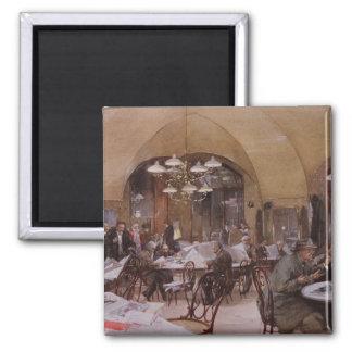 Cafe Griensteidl, Vienna, 1890 Square Magnet