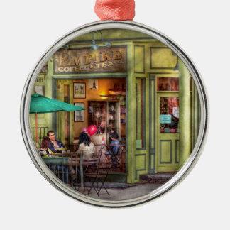 Cafe - Hoboken, NJ - Empire Coffee & Tea Christmas Ornament