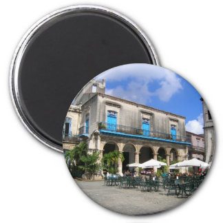 Cafe in Cuba 6 Cm Round Magnet