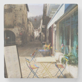 Cafe in France Stone Coaster