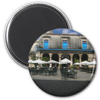 Cafe in Havana Cuba 6 Cm Round Magnet