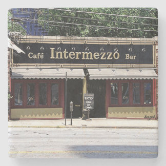 Cafe Intermezzo Buckhead, Atlanta Marble Stone Coa Stone Coaster