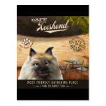 Cafe Keeshond Postcard