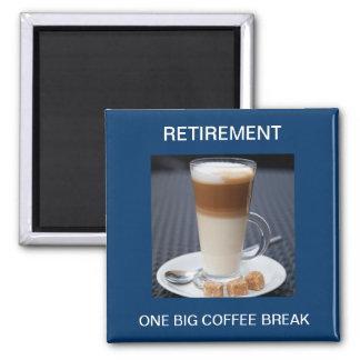 Cafe Latte Square Magnet
