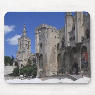 Cafe, Le Palais des Papes, Avignon, Vaucluse, Mouse Pad