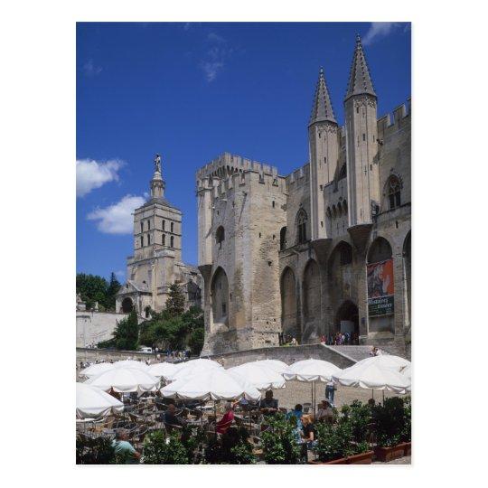 Cafe, Le Palais des Papes, Avignon, Vaucluse, Postcard