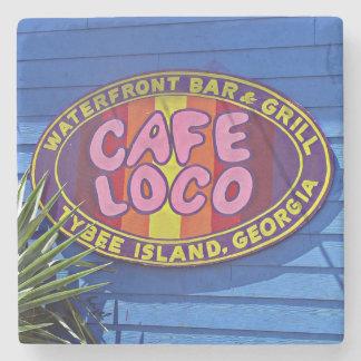 Cafe Loco, Savannah, Georgia Marble Coaster Stone Coaster