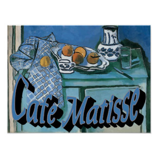 Cafe MAtisse Abstract Poster