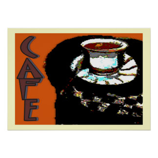 Cafe Matisse Style Sign Poster