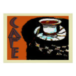 Cafe Matisse Style Sign Posters