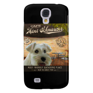Cafe Mini Schnauzer Galaxy S4 Case