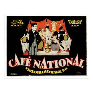 Cafe National Vintage Cafe Drink Ad Art Postcard