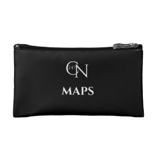 Café Novela Maps Small Cosmetic Bag