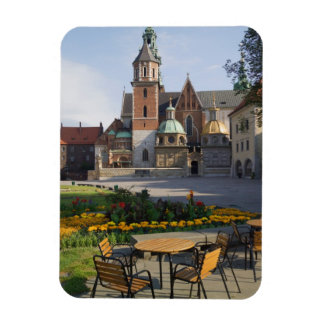 Cafe overlooking Wawel Cathedral, Wawel Hill, Rectangular Photo Magnet