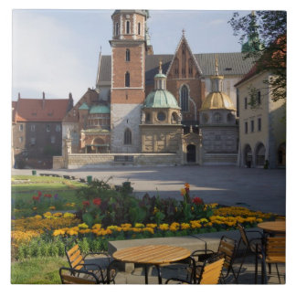 Cafe overlooking Wawel Cathedral, Wawel Hill, Tile