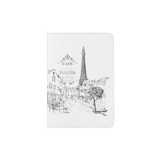 Cafe Paris Passport Holder