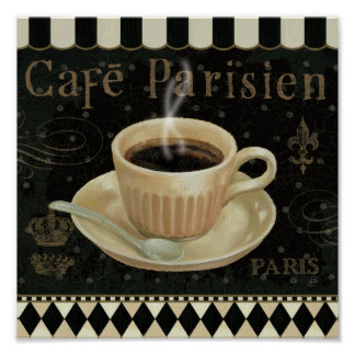 Cafe Parisien Poster