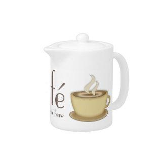 Café Personalized Teapot