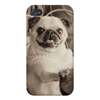 Cafe Pug Case For iPhone 4