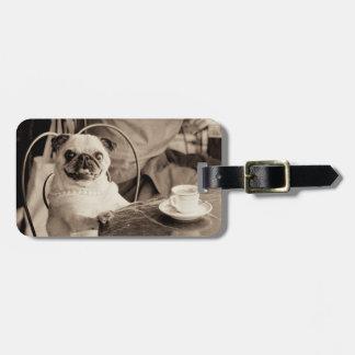 Cafe Pug Luggage Tag