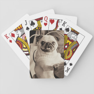 Cafe Pug Playing Cards