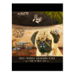 Cafe Pug Postcards