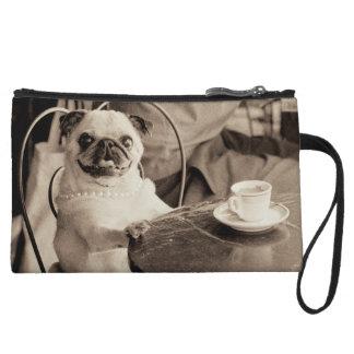 Cafe Pug Wristlet