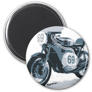 Cafe Racer Classic Motorcycle 6 Cm Round Magnet