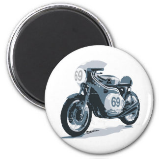 Cafe Racer Classic Motorcycle Refrigerator Magnets