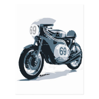 Cafe Racer Classic Motorcycle Postcard