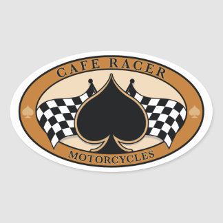 Cafe Racer / Motorcycle Oval Sticker