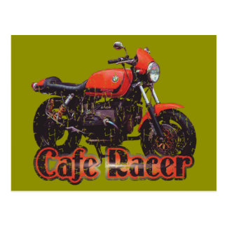 Cafe Racer Motorcycle Post Card