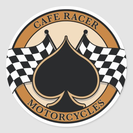 Cafe Racer Motorcycles Classic Round Sticker
